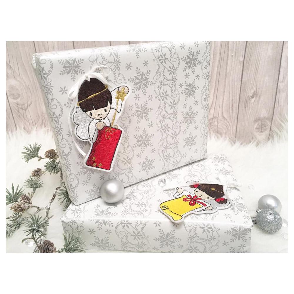 NÄHPARK Stickmuster Weihnachts-Geschenkanhänger