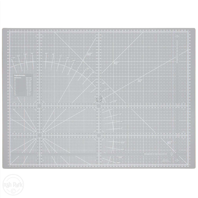 Patchwork-Schneidematte grau 63 x 47 cm