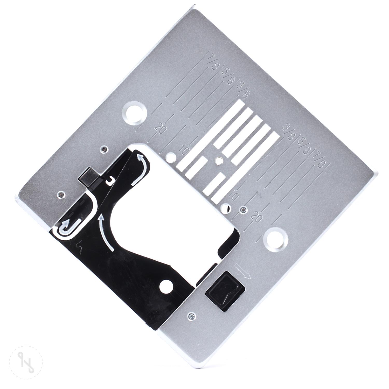 PFAFF Rundlochstichplatte mit Inchmarkierungen
