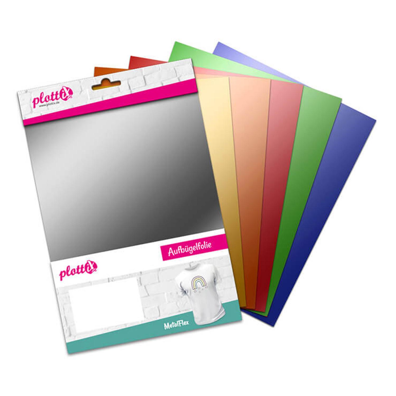 PLOTTIX MetalFlex 30 cm x 30 cm Bundle mit 6 Farben