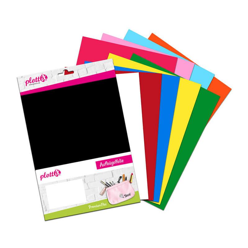 PLOTTIX PremiumFlex 30 cm x 30 cm Bundle mit 10 Farben