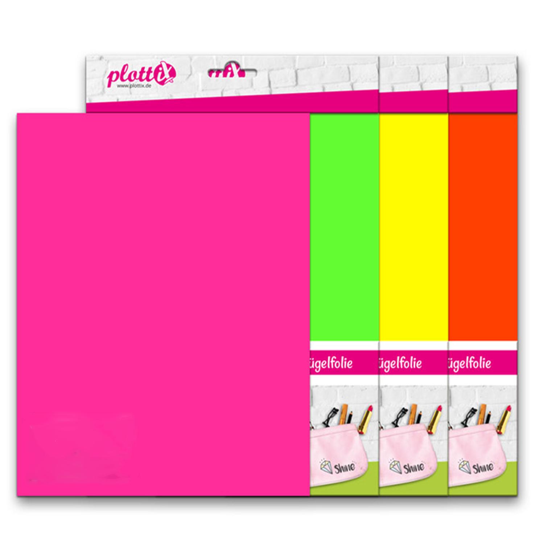 PLOTTIX PremiumFlex Neon 30 cm x 30 cm 3er Pack