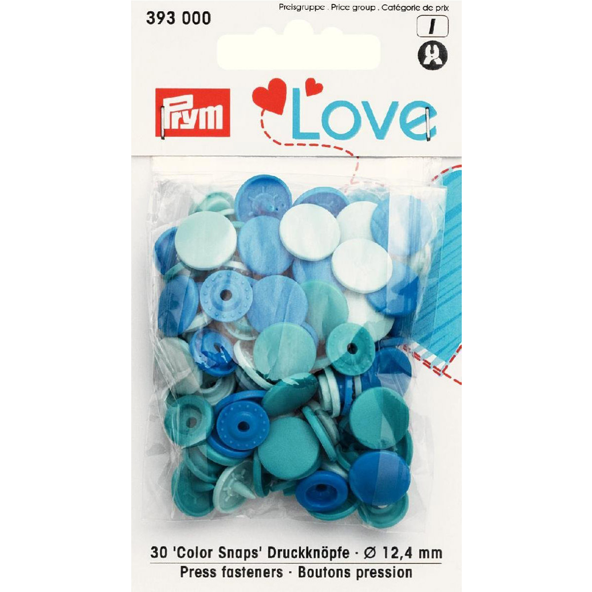 PRYM Love Color Snaps blau