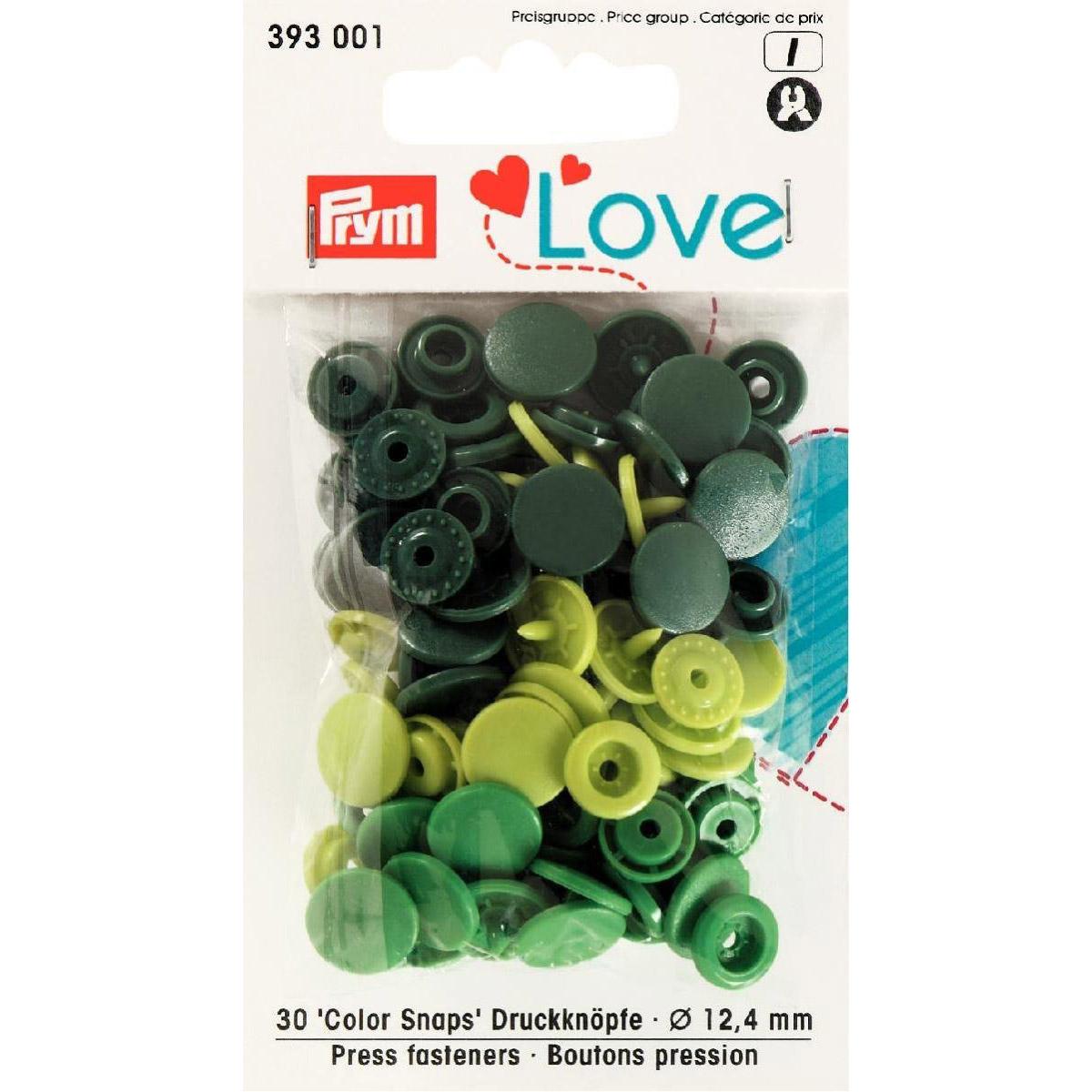 PRYM Love Color Snaps grün