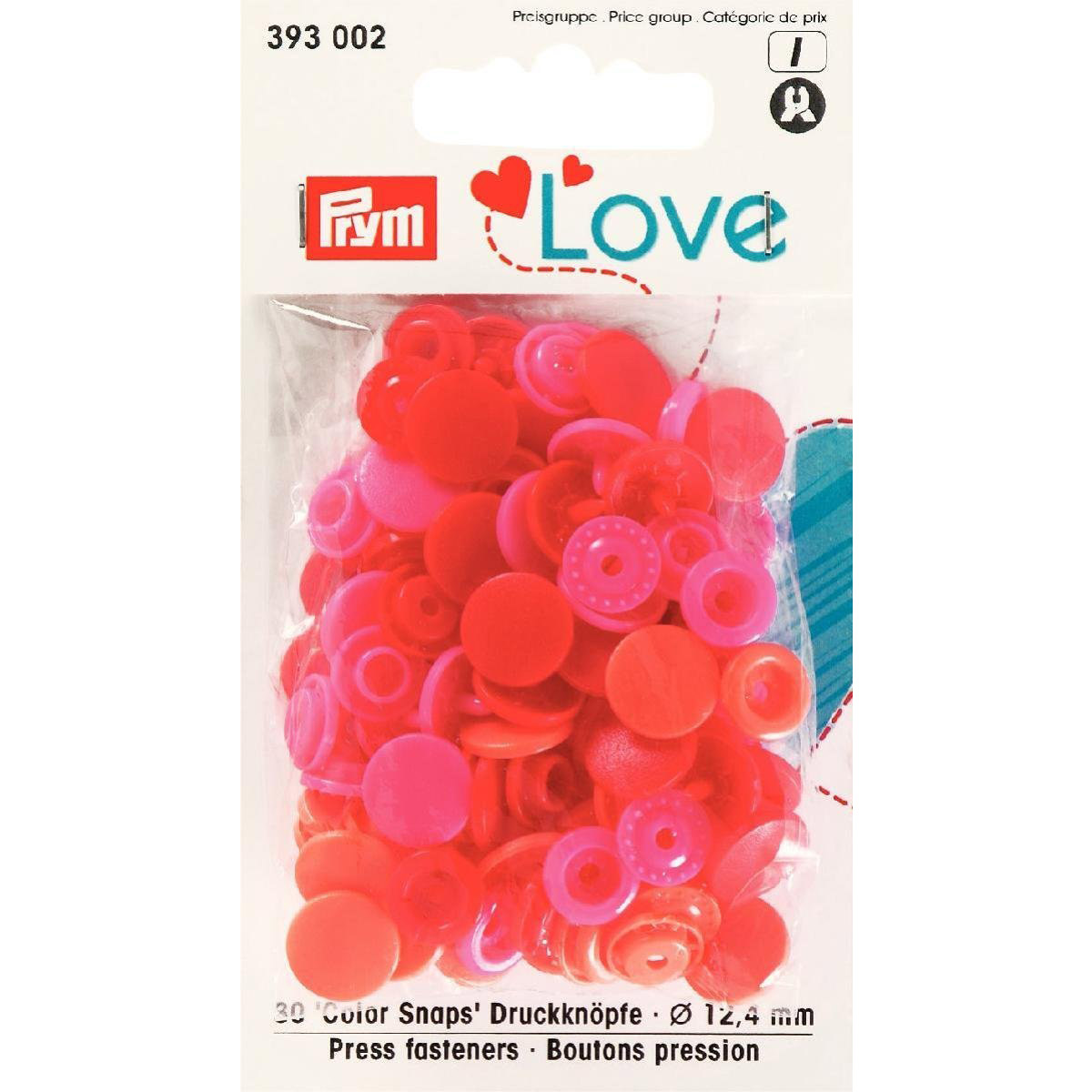 PRYM Love Color Snaps rot