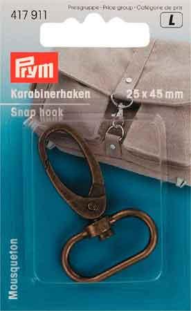 PRYM Karabinerhaken 25mm altmessing
