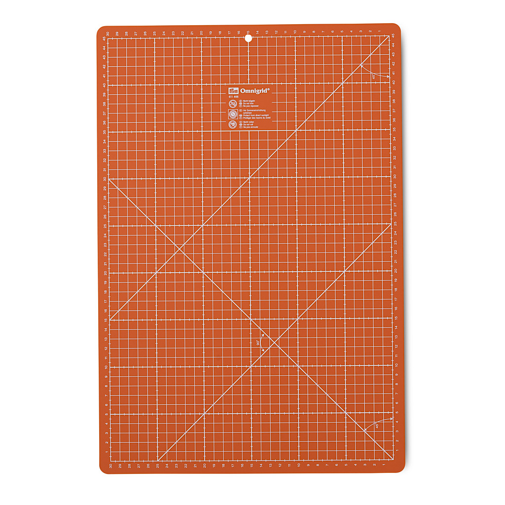 PRYM Rollschneideunterlage 30 x 45 cm orange