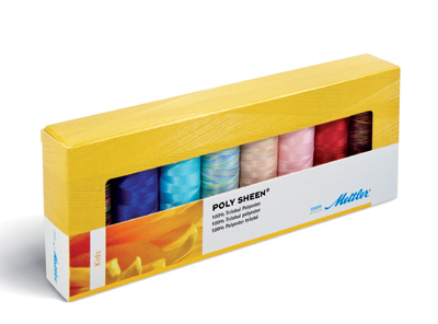 METTLER Farbkit Polysheen 8 Farben 200m Multicolor Kids