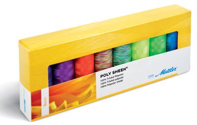 METTLER Farbkit Polysheen 8 Farben 200m Multicolor Neon