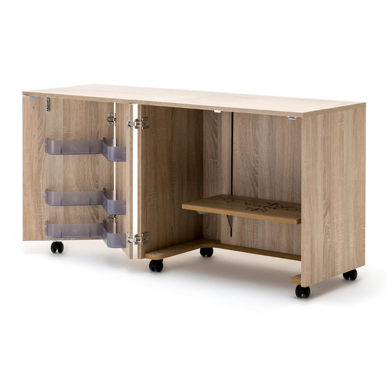 RMF Nähmöbel BASE mit Falttür links und Auflageplatte