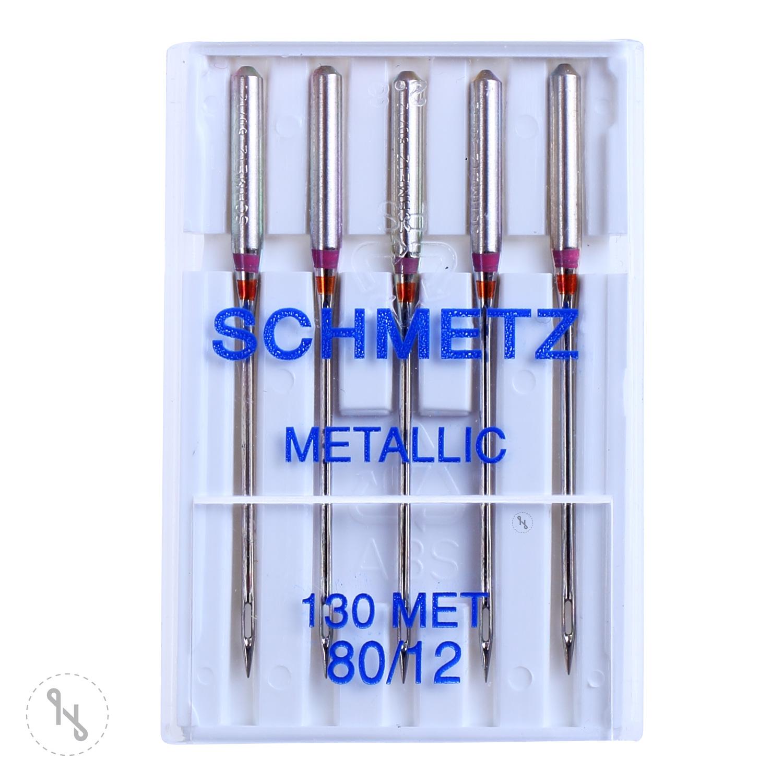 SCHMETZ Maschinen-Sticknadeln Metallic