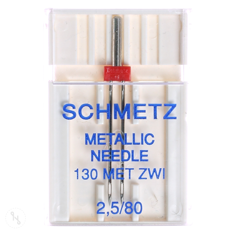 SCHMETZ Zwillingsnadel Metallic Stärke 80 2,5 mm