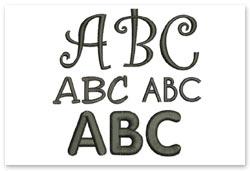 Bernina Embroidery Plus - Alphabete
