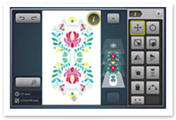 Bernina Embroidery Plus - Rückgängig machen und Wiederherstellen