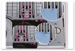 Juki HZL-DX5 Multifunktionale Stichplatte