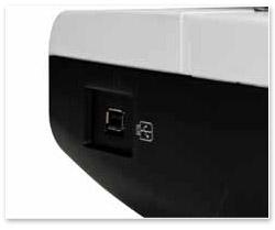 Der USB-Anschluss der bernette Chicago 7