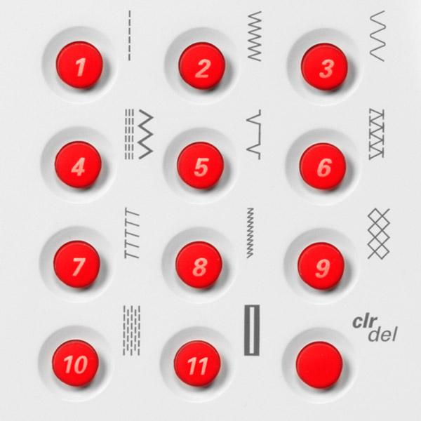 Bernina 215 Special Edition Simply Red Stichübersicht
