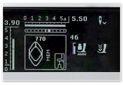 Bernina B 530 Stichkontrolle