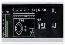 Bernina B 550 QE Stichmuster