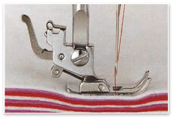 Janome Modell 415 Nähen dicker Materialien