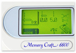 Janome Memory Craft 6600 Display