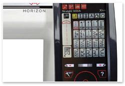 Janome Horizon MC 12000 Bildschirm