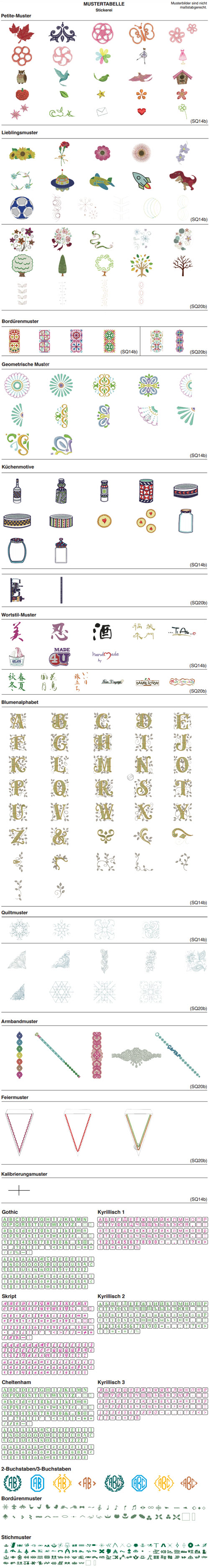 Janome Memory Craft 500 E Stiche