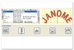 Janome Digitizer Junior V4.5 Schriften