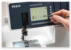 Pfaff coverlock 4.0 LCD Touchscreen