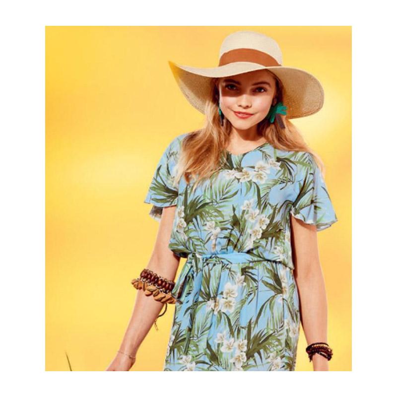 Kleid mit Flügelärmeln - ein luftiges Kleid für die ersten schönen Tage im Jahr.