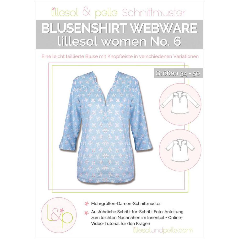 Lillesol Women Papierschnittmuster No.6 Blusenshirt Webware im ...