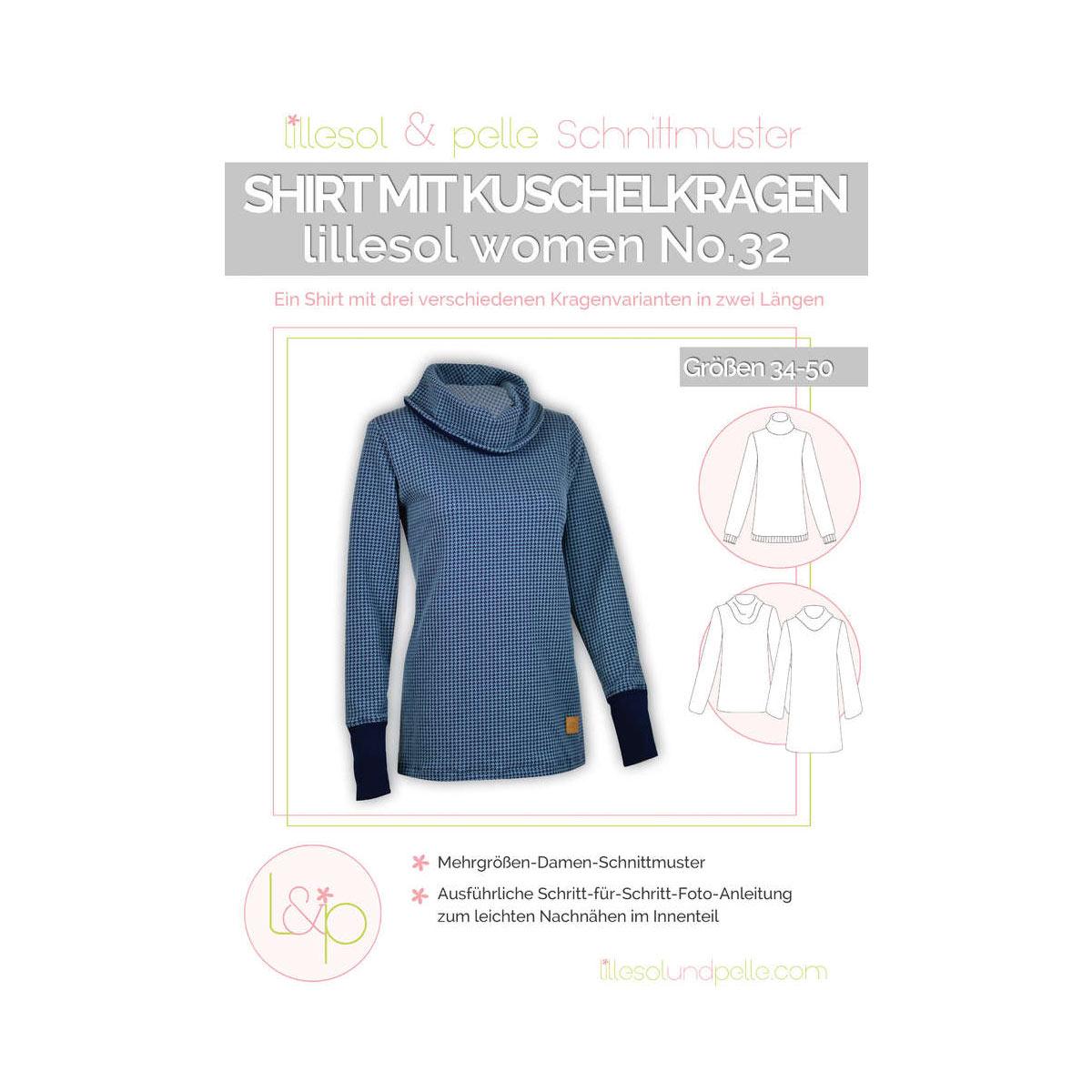 Lillesol Women Papierschnittmuster No.32 Shirt mit Kuschelkragen im ...