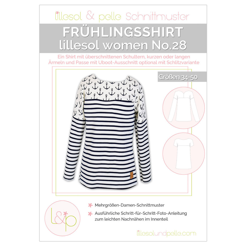 Lillesol Women Papierschnittmuster No.28 Frühlingsshirt im nähPark ...