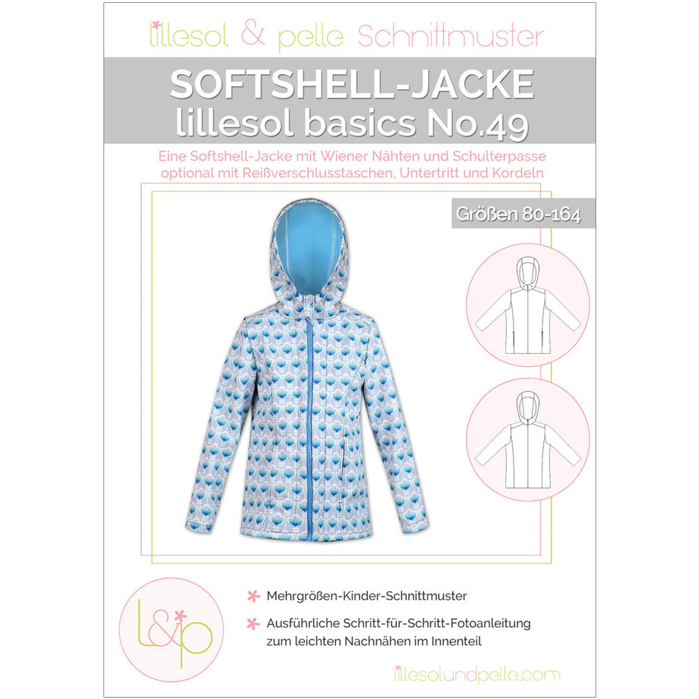 Lillesol Basics Papierschnittmuster No.49 Softshelljacke im nähPark ...