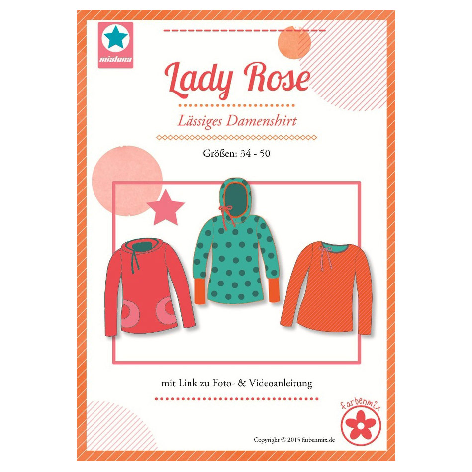 Mialuna Papierschnittmuster Shirt Lady Rose im nähPark kaufen