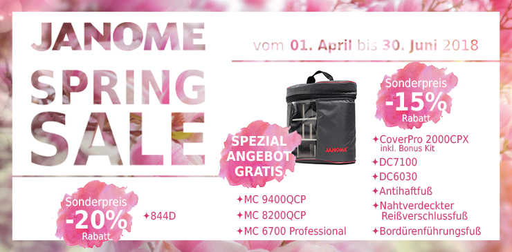 1 Janome Spring Sale