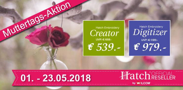 3 Wilcom Hatch Muttertags-Aktion 2018