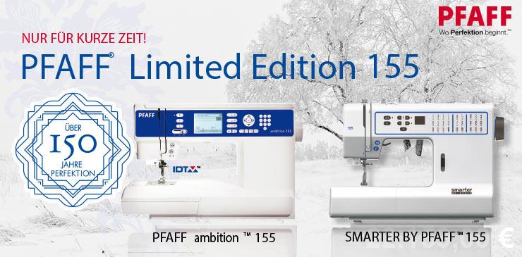 5 Pfaff Limited Edition 155 Sondermodelle