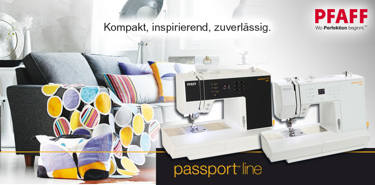 4 Pfaff Passport Modelle