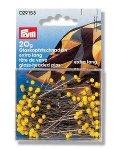 PRYM Glaskopfstecknadeln gelb