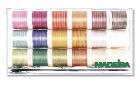MADEIRA Stickbox Cotona Multicolor No. 50 18 Spulen 200m