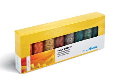 METTLER Polysheen Farbkit 8 Farben 200m Multicolor - Autumn