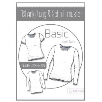 KI-BA-DOO Papierschnittmuster Basic Shirt/Tunika Damen