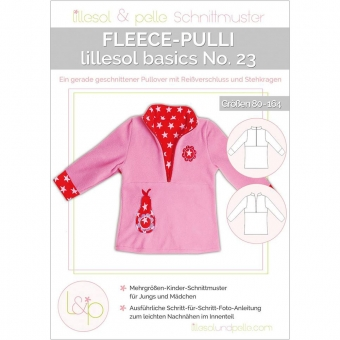 LILLESOL Basics Papierschnittmuster No.23 Fleece-Pulli