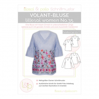 LILLESOL Women Papierschnittmuster No.35 Volant-Bluse