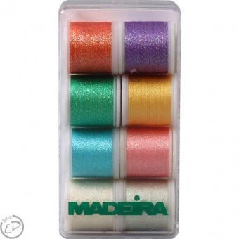 MADEIRA Stickbox Metallic Supertwist 8 Spulen 200m