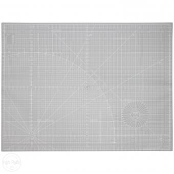 Patchwork-Schneidematte grau 93 x 124 cm