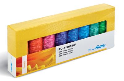 METTLER Polysheen Farbkit 8 Farben 200m Multicolor - Pastels