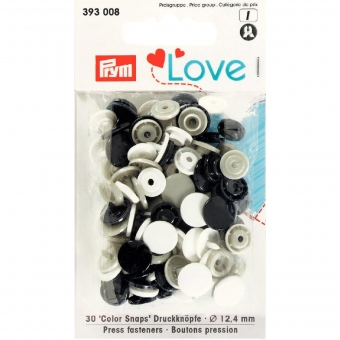 PRYM Love Color Snaps marine/grau/weiß