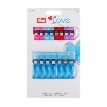 PRYM Love Stoff Clips 2,6 cm und 5,5 cm 15 Stück